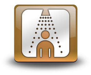 "Orange 3D Effect Icon ""Shower"""