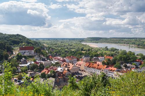 Panel Szklany Panorama of Kazimierz Dolny, Poland