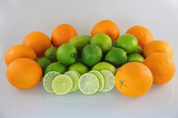 Orangen und Limonen