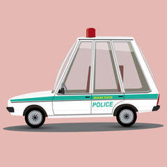 funny cartoon miami police car