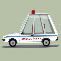 funny cartoon chicago police car