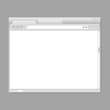 Modern web browser template. Ready for a content