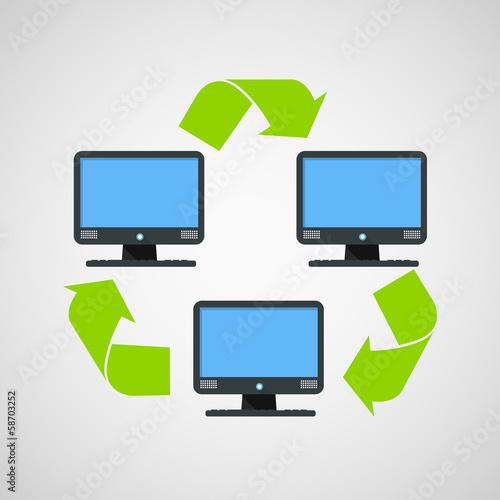 Abstract modern computer connection scheme