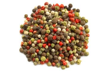 heap of peppercorn mix