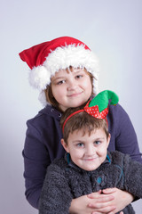 kids having fun at Christmas
