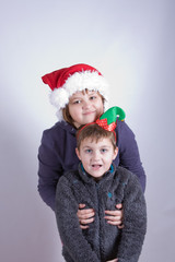 kids having fun at Christmas