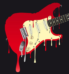 Melting Electric Guitar