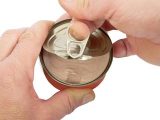 Opening tin