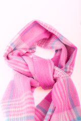 Knotted Woolen pink scarf