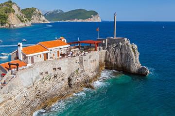 Coastal fortress Castello. Petrovac town, Montenegro