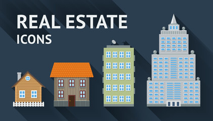 Real estate icons set