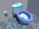 Colorful toilet - 3D render