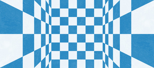 Abstract blue checkered texture
