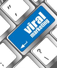 viral marketing word on computer keyboard key