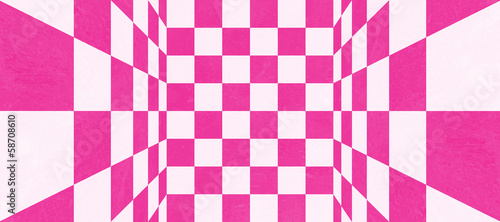 Abstract pink checkered texture
