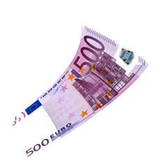 500 Euroschein fliegt