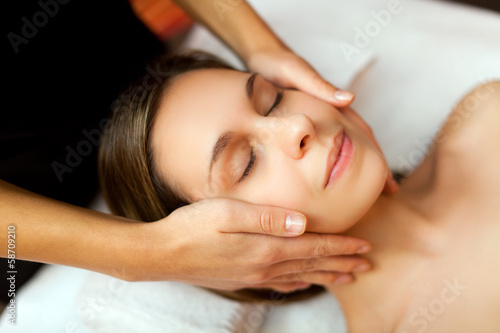 Beautiful woman having a massage