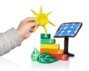 new generation that thinks of the photovoltaic  - isolated