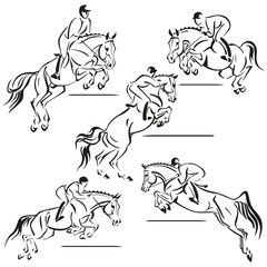 jumping riders