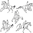 Obrazy na płótnie, fototapety, zdjęcia, fotoobrazy drukowane : galloping riders 1