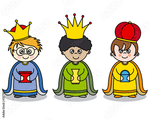 three kings vector