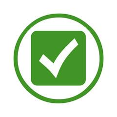 Silhouette - web symbol in einem grünen kreis