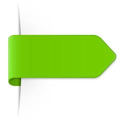 Hellgrüner langer Sticker Pfeil mit Schatten und Textfreiraum