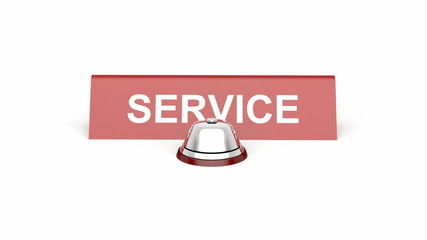 Service bell and service sign
