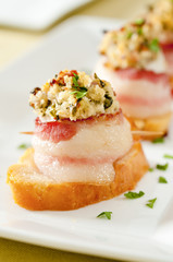bacon-wrapped scallop appetizers