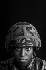 Black Female Soldier