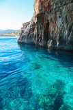 Famous blue caves at Zakynthos, Greece