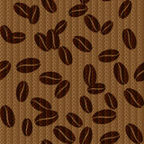 Vintage seamless background with coffee beans.