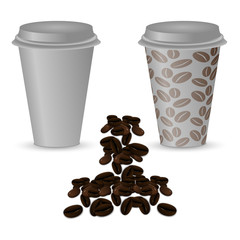 Two plastic cups of coffee