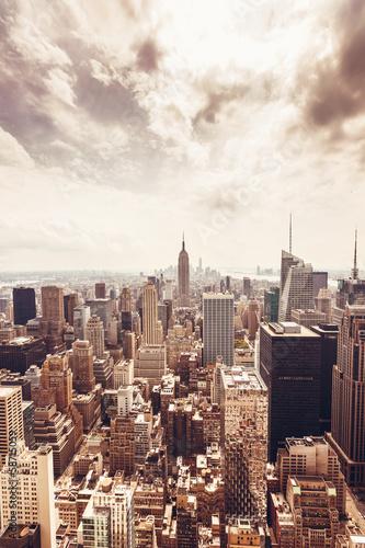 Manhattan skyline aerial view - 58715059