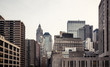 Manhattan skyline aerial view