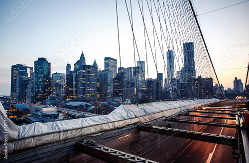 Lower Manhattan skyline from Brooklyn Bridge