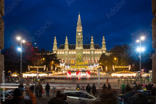 Christmas market near Vienna's City Hall (Rathaus), Austria