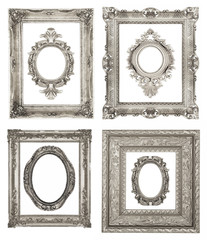Set of ornamental silver frames