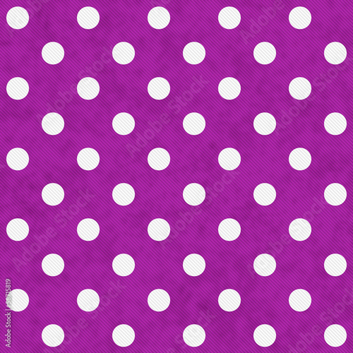 White Polka Dots on Pink Textured Fabric Background