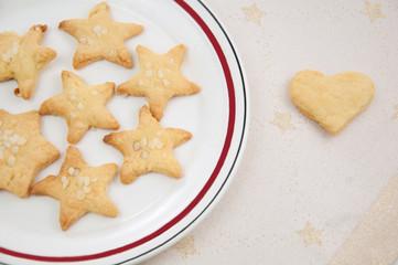 Sterne – Selbst gebackene Kekse zu Weihnachten