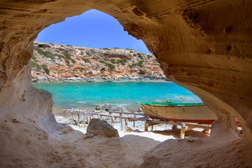 Formentera Cala en Baster in Balearic Islands of Spain
