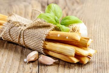 Traditional italian breadsticks
