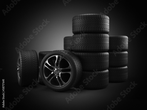 3d rendered illustration of some tires