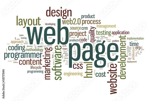 Web page concept in word tag cloud