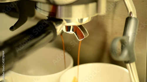 Double espresso extraction