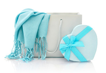 Shopping bag with gift box
