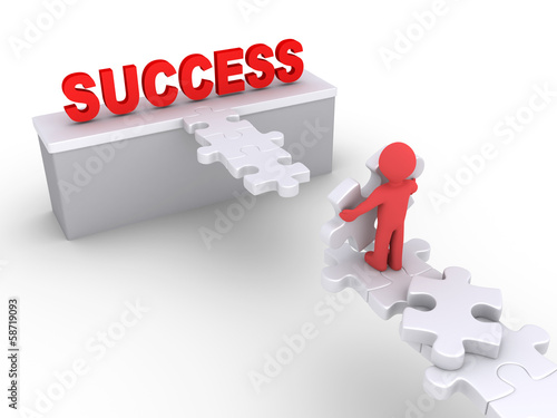 Person wants to reach success