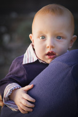Infant Boy Portrait Outdoors