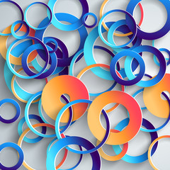 Abstract 3D Paper Infographicsa