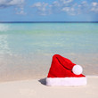 Santa's Hat on Tropical Beach